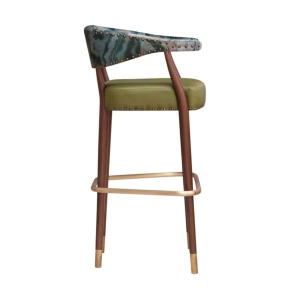 Grove Bar Stool Maria CM Cadeiras DeFrae Contract Furniture Side On View
