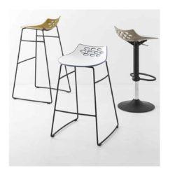 Jam Bar Stool Metal Frame Connubia by Calligaris at DeFrae Contract Furniture Black Frame Range