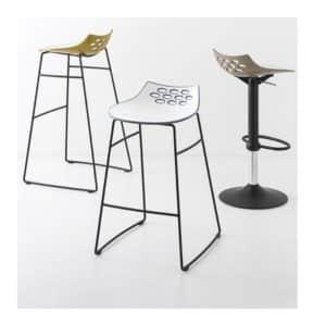 Jam Bar Stool Metal Frame Connubia by Calligaris at DeFrae Contract Furniture Black Frame Range