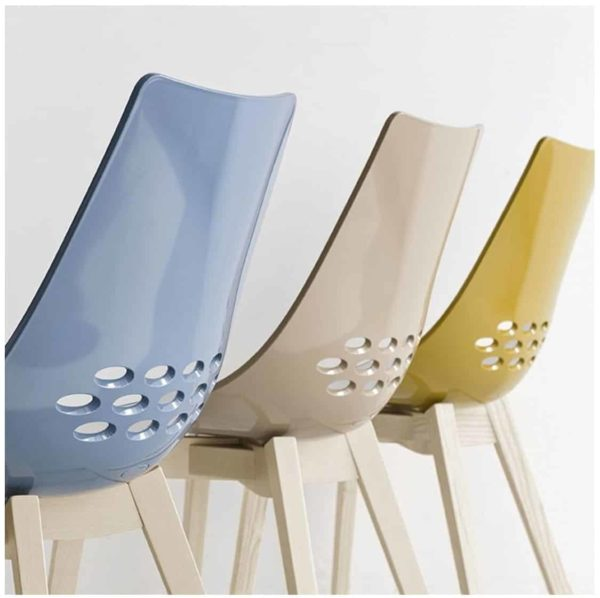 Jam W Chair Wood Frame Connubia by Calligaris at DeFrae Contract Furniture Colours