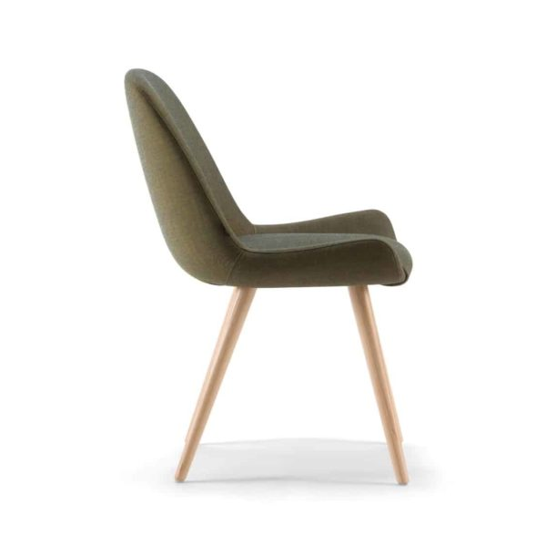 Kesy 01 Side Chair DeFrae Contract Furniture Side View