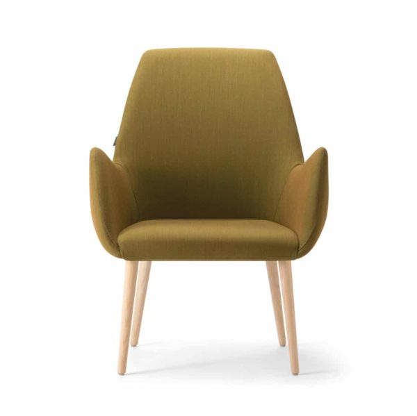 Kesy High Back Lounge Chair 05 DeFrae Contract Furniture Hero