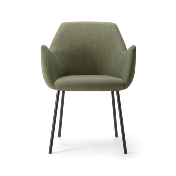 Kesy Armchair 04 DeFrae Contract Furniture Metal Legs