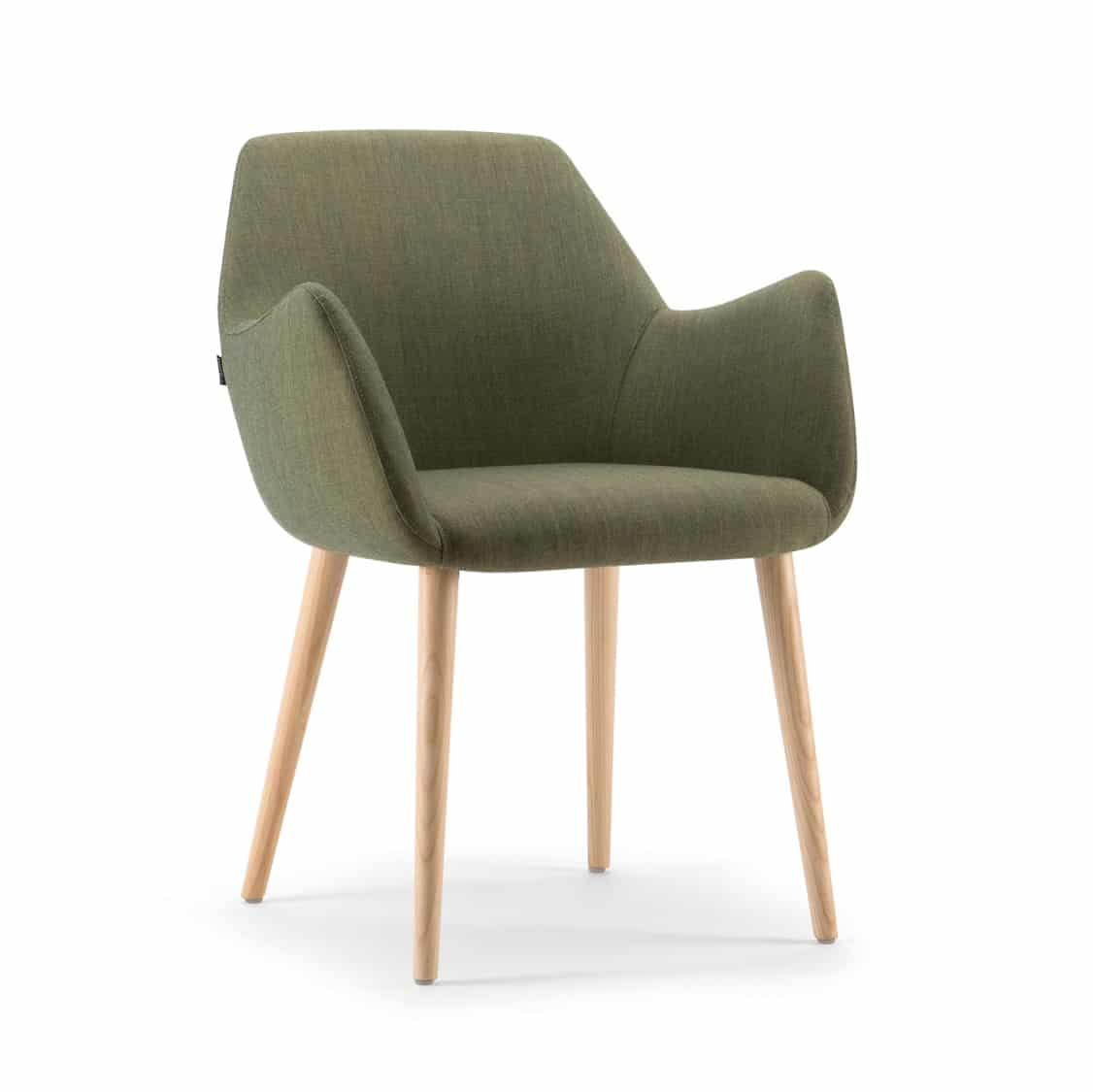 Kesy Armchair 04 DeFrae Contract Furniture Wood Legs