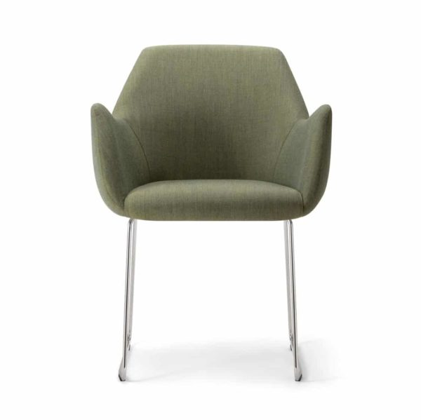 Kesy Armchair 04 DeFrae Contract Furniture Sled Base