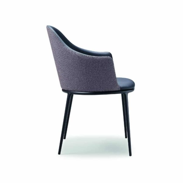 Lea armchair with black frame Midj at DeFrae Contract Furniture