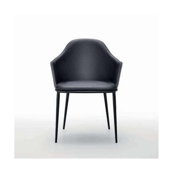 Lea armchair with black frame Midj at DeFrae Contract Furniture front