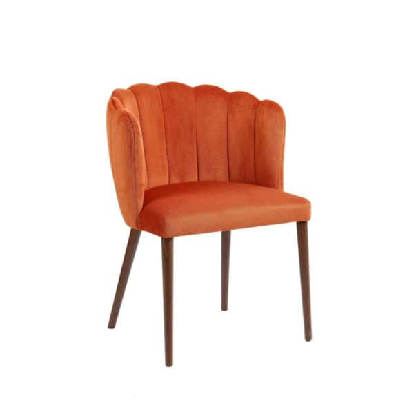 Megan armchair with fluted back Malina at DeFrae Contract Furniture