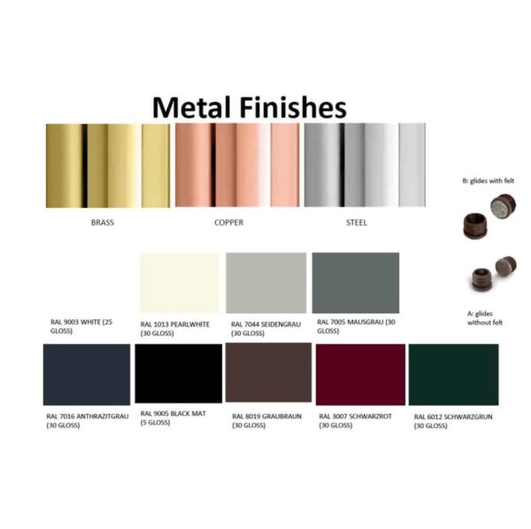 Metal Frame Finishes For Chairs and Stools DeFrae