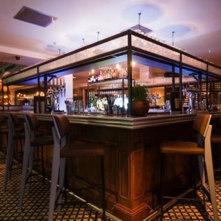 Oakland bar stools at The Pearson Rooms Canary Wharf London by DeFrae Contract Furniture