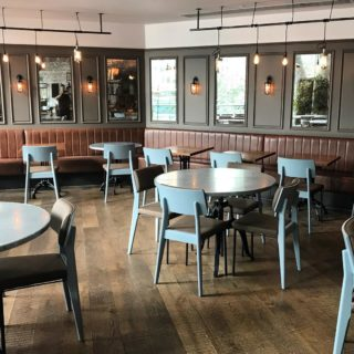 Oakland side chairs at The Pearson Rooms Canary Wharf London by DeFrae Contract Furniture 2