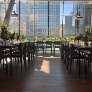 Oakland side chairs at The Pearson Rooms Canary Wharf London by DeFrae Contract Furniture