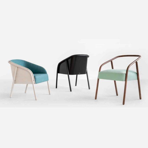 Plum armchair range DeFrae Contract Furniture