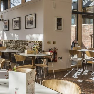 Restaurant furniture by DeFrae Contract Furniture at Picturehouse Cinema West Norwood