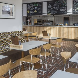 Restaurant furniture by DeFrae Contract Furniture at Picturehouse Cinema West Norwood Header