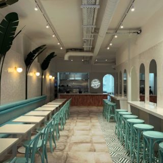 Burger restaurant furniture by DeFrae Contract Furniture at Neat Burger London