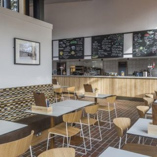Restaurant furniture by DeFrae Contract Furniture at Picturehouse Cinema West Norwood 3 (2)