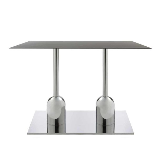 Typha Table Bases DeFrae Contract Furniture Chrome Twin