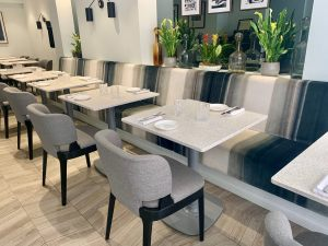 Banquette-Seating-Tea-Chairs-Terazzo-Tabletop-Tops-Ax-Table-Bases-Restaurant-Furniture-At-Xier-London-By-DeFrae-Contract-Furniture