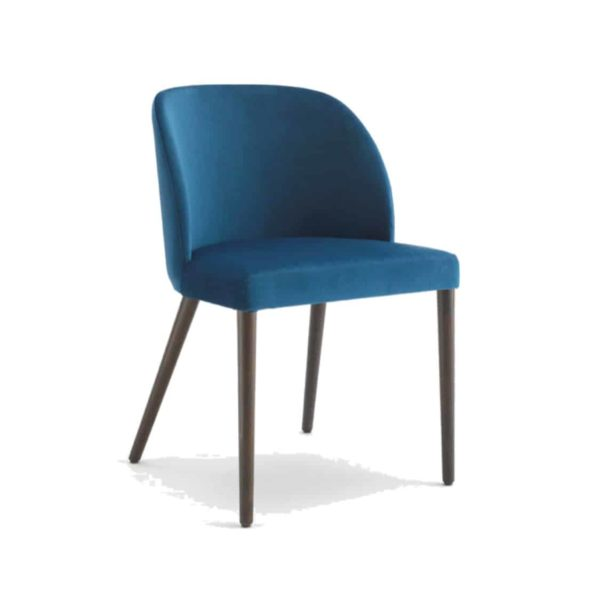 Camille Side Chair Malina at DeFrae Contract Furniture Wooden Legs