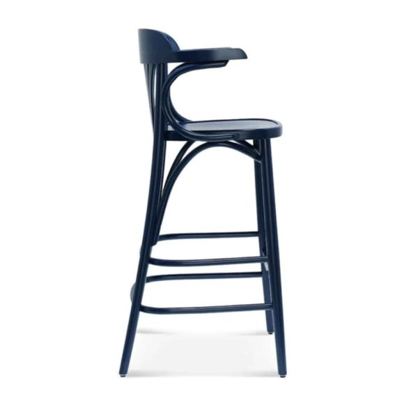 Core Bar Stool Classic Bentwood DeFrae Contract Furniture Side View