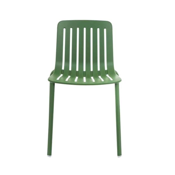 Plato Side Chair Magis at DeFrae Contract Furniture Green Front View