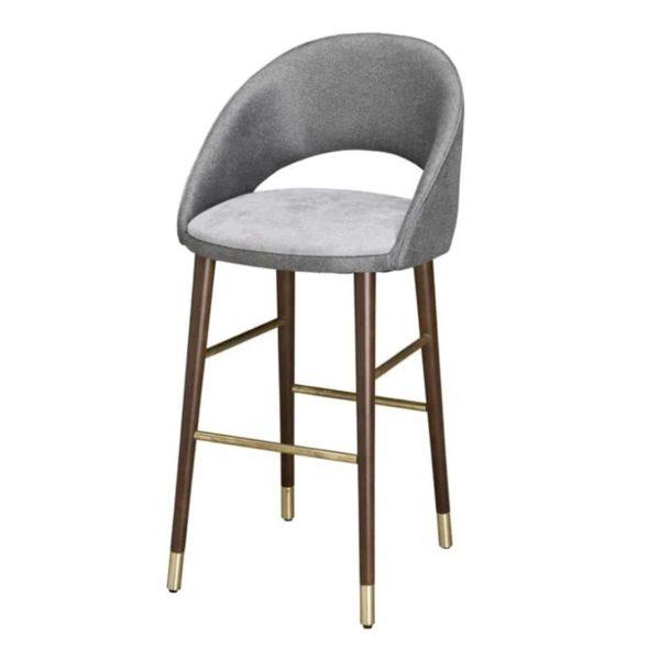 Sinatra Bar Stool CM Cadeiras DeFrae Contract Furniture Grey