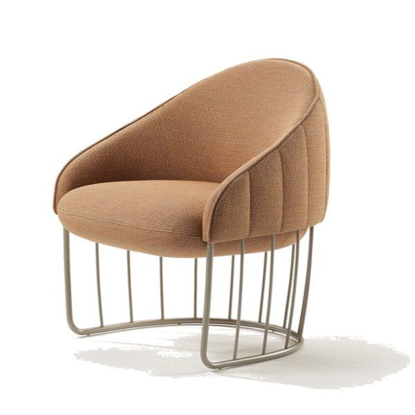 Tonella Lounge Chair Sancal DeFrae Contract Furniture Metal Vertical Frame