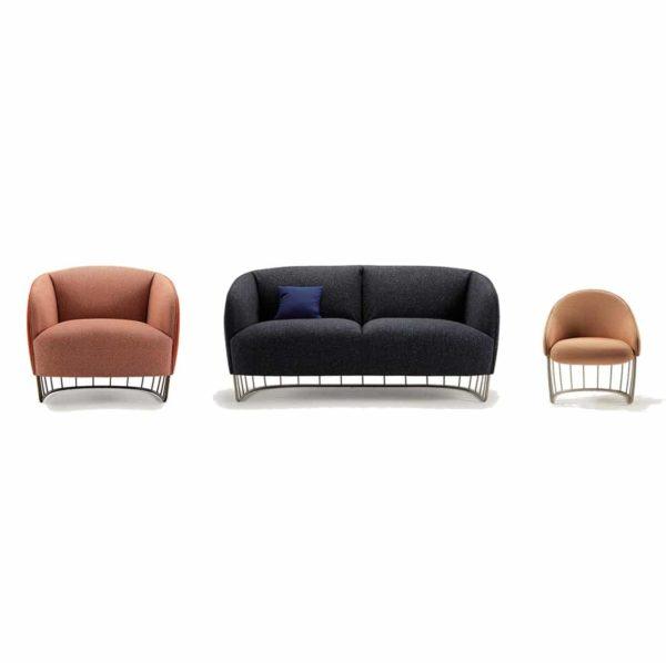 Tonella Lounge Range Sancal DeFrae Contract Furniture Metal Vertical Frame