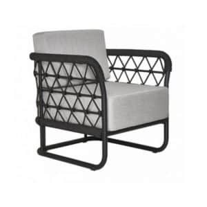 Marine Armchair Outdoor Lounge Chair DeFrae Contract Furniture Side View