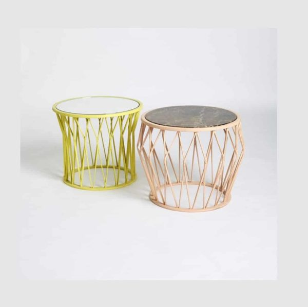 Rhombus Side Table at DeFrae Contract Furniture R10 and R20 Yellow