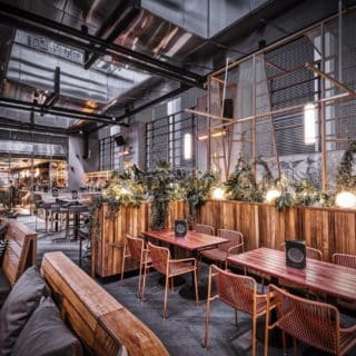 Tribeca Outside chair at The Alchemist Canary Wharf by DeFrae Contract Furniture