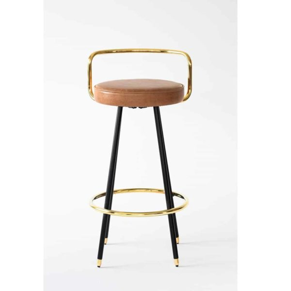 Block A Bar Stool from Topos Available From DeFrae Contract Furniture Front View