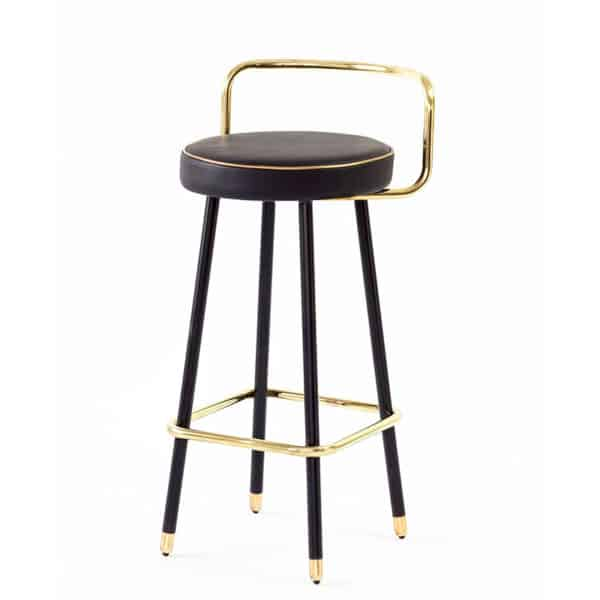 Block B-A2 Bar Stool Bar Stool DeFrae Contract Furniture Black