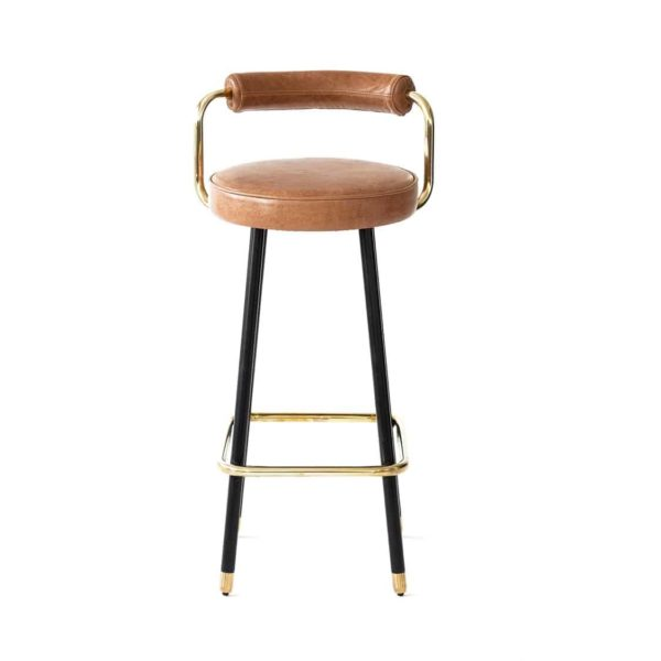 Block B Bar Stool from Topos Available From DeFrae Contract Furniture Front View