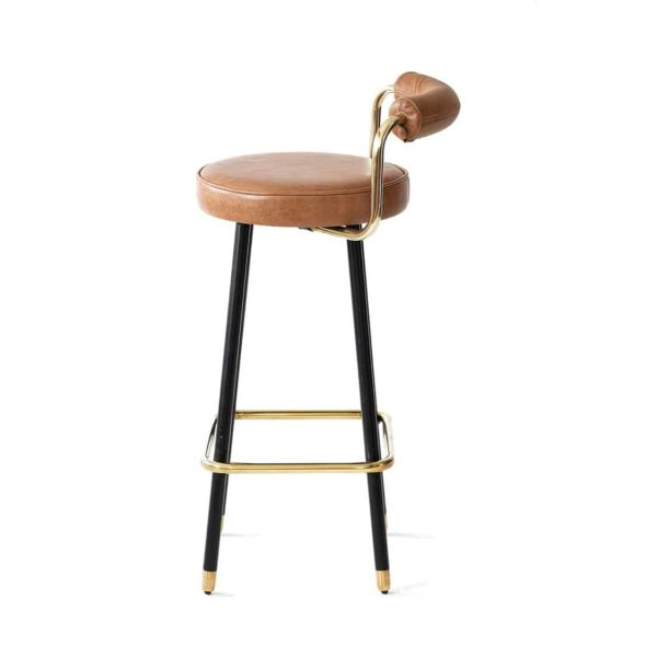 Block B Bar Stool from Topos Available From DeFrae Contract Furniture Right Side View