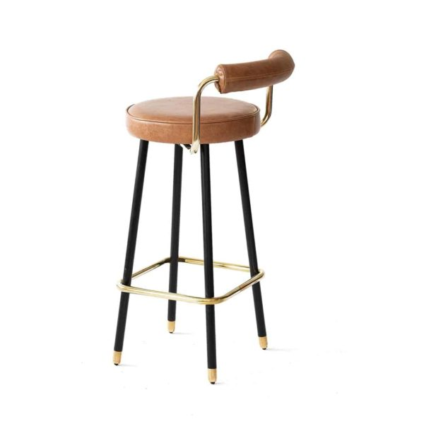 Block B Bar Stool from Topos Available From DeFrae Contract Furniture Side On View