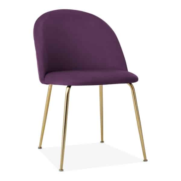 Heath dining restaurant chair DeFrae Contract Furniture Side Purple Front