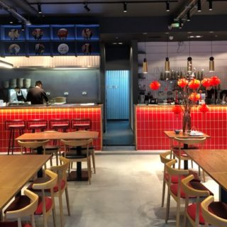 Restaurant furniture by DeFrae at Noodle and Beer Spitalfields London