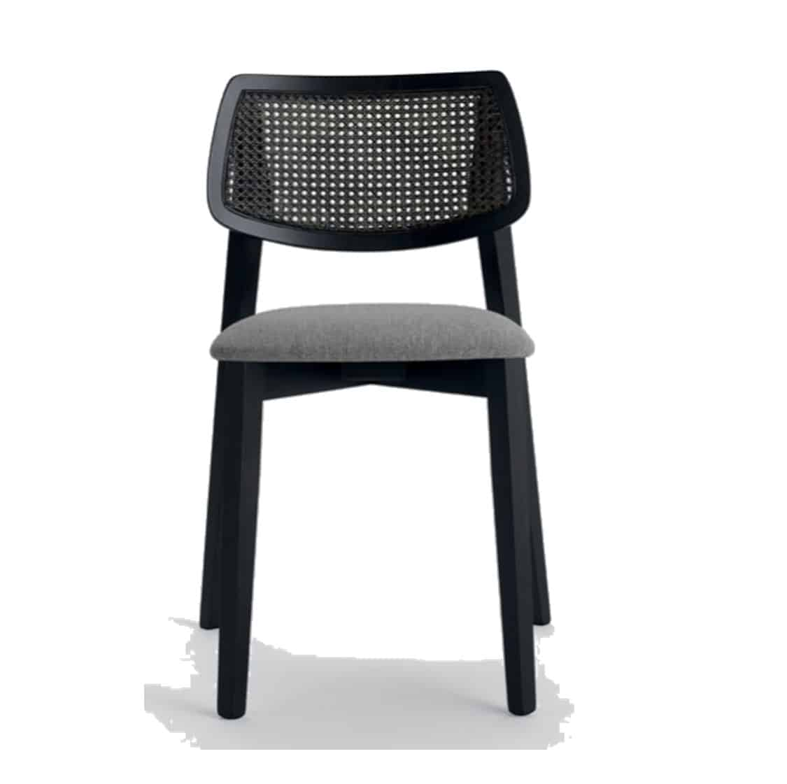 Alma Side Chair Wooden Restaurant Chair Weave Seat DeFrae Contract Furniture Cane Back Rest