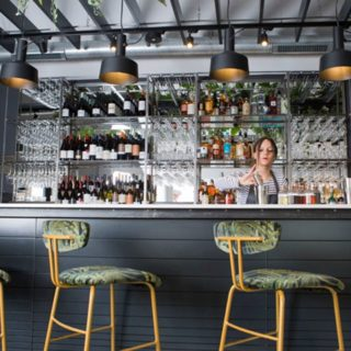 Amy Bar Stools Restaurant bar furniture at the Flinthouse Brighton by DeFrae Contract Furniture 3