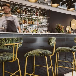 Amy Bar Stools Restaurant bar furniture at the Flinthouse Brighton by DeFrae Contract Furniture