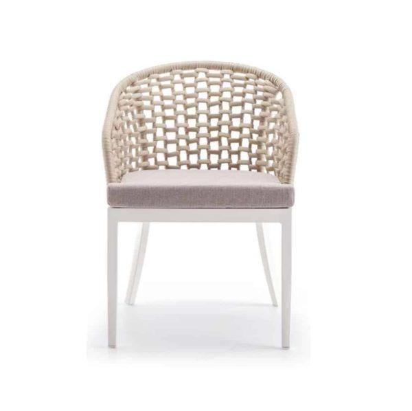 Kos Armchair Outside Restaurant Bar Coffee Shop Cafe DeFrae Contract Furniture Beige