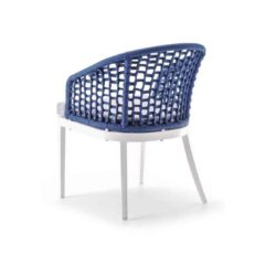 Kos Armchair Outside Restaurant Bar Coffee Shop Cafe DeFrae Contract Furniture Blue