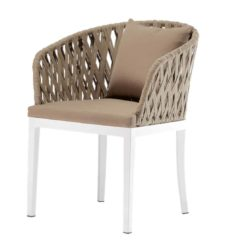 Majorca Armchair Outside Restaurant Bar Coffee Shop Cafe DeFrae Contract Furniture with back cushion