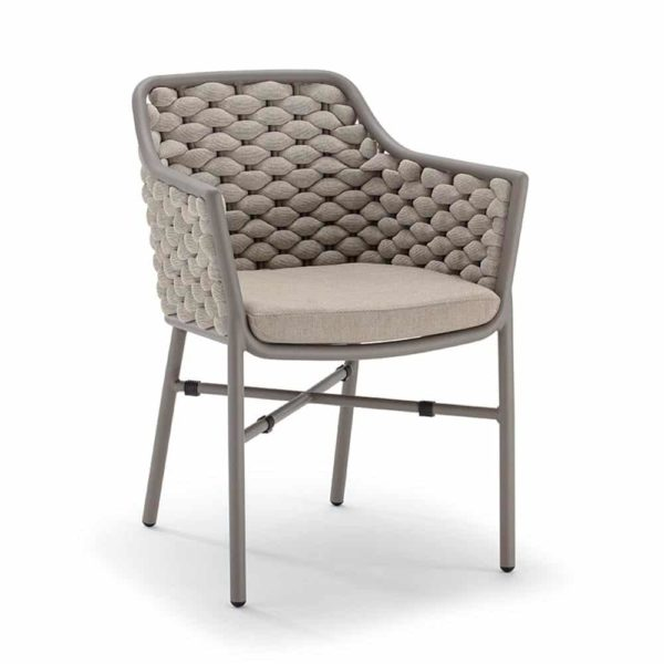 Panama Armchair Outside Restaurant Bar Coffee Shop Cafe DeFrae-Contract-Furniture Taupe and Anthracite