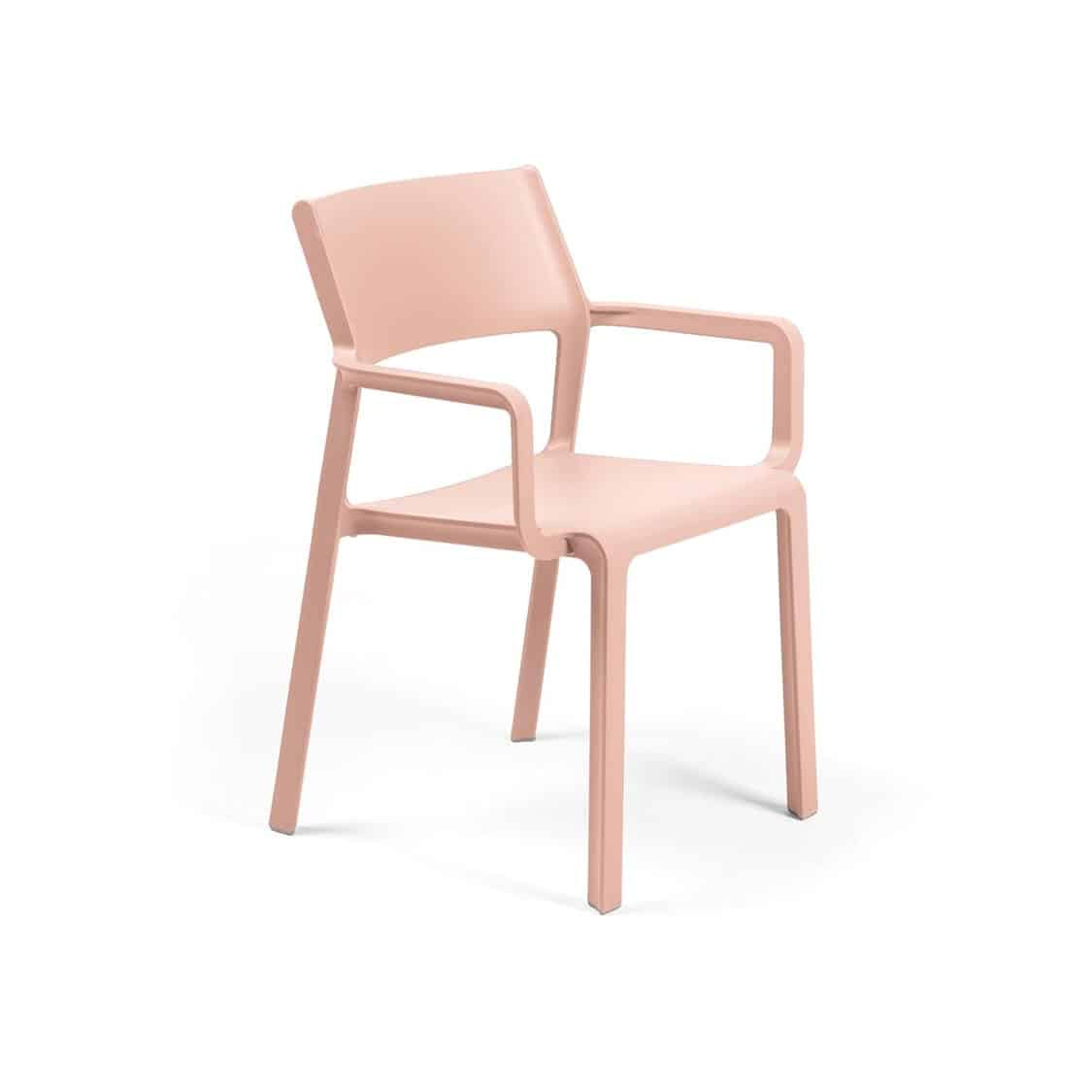 Trill Armchair outside outdoor chair restaurant bar coffee shop cafe DeFrae baby pink