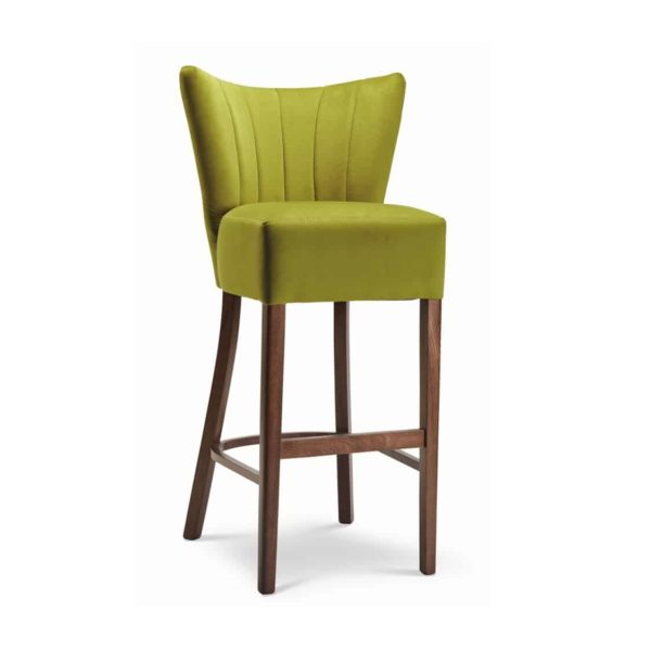 Capri Cocktail Bar Stool Restaurant Bar Coffee Shop Fluted Back DeFrae Contract Furniture