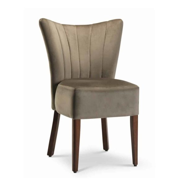 Capri Cocktail Side Chair Restaurant Bar Coffee Shop Fluted Back DeFrae Contract Furniture