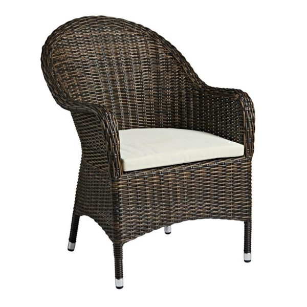 Clova Armchair Lloyd Loom Style Rattan Outside DeFrae Contract Furniture